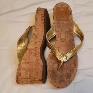 Tory Burch 3in wedge sandals size 7 GUC